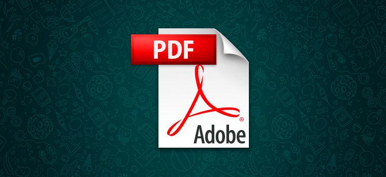 С помощью ВотсАпп возможно передавать PDF файлы