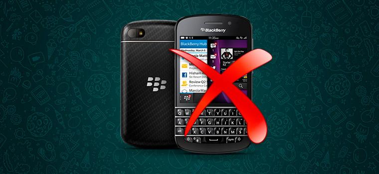 WhatsApp больше не собирается поддерживать Blackberry